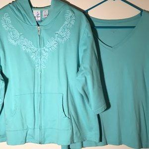 Mint Green Hoodie & T-Shirt